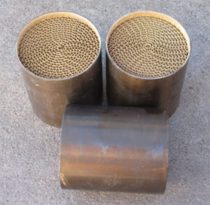 High Flow Metallic Substrate Catalytic Converter